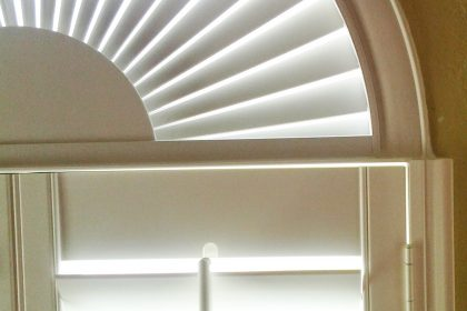 Plantation Shutters on Arched Windows