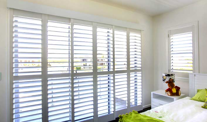 Plantation Shutters large windows Liberty Shutters
